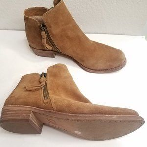 Gianni Bini Ankle Boots Suede Double Zipper